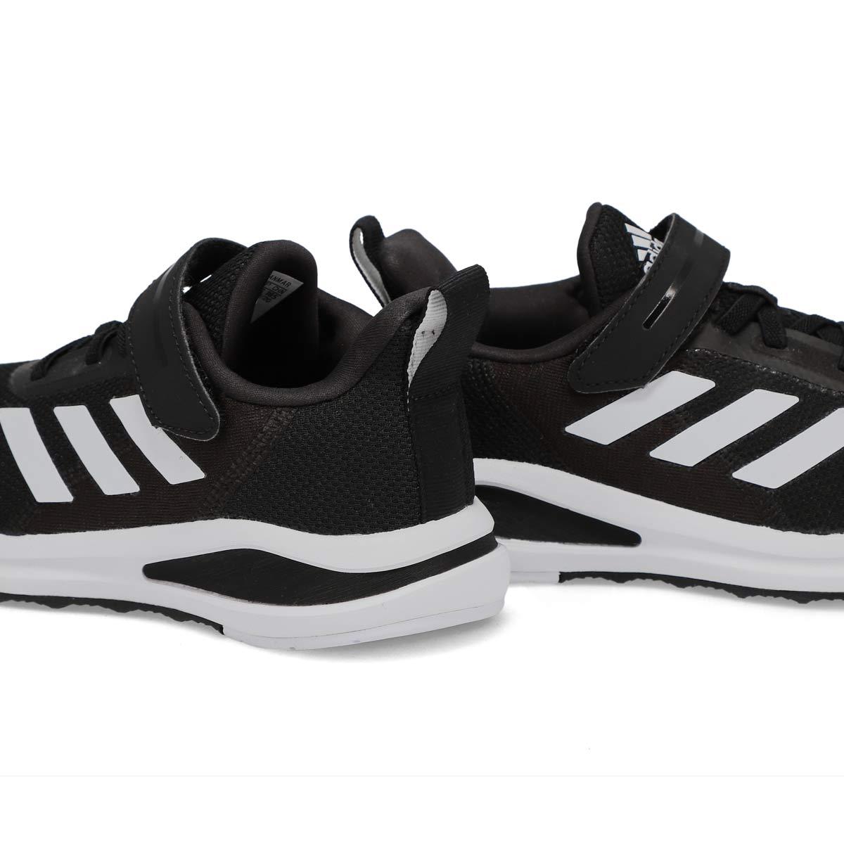 Boy's FortaRun EL K Running Shoe - Black/White