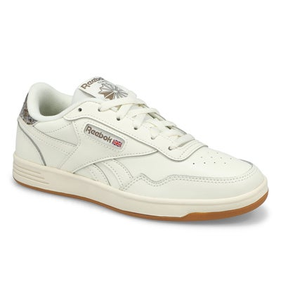 Lds Reebok Club Memt Sneaker-Wht/Gry/Gum