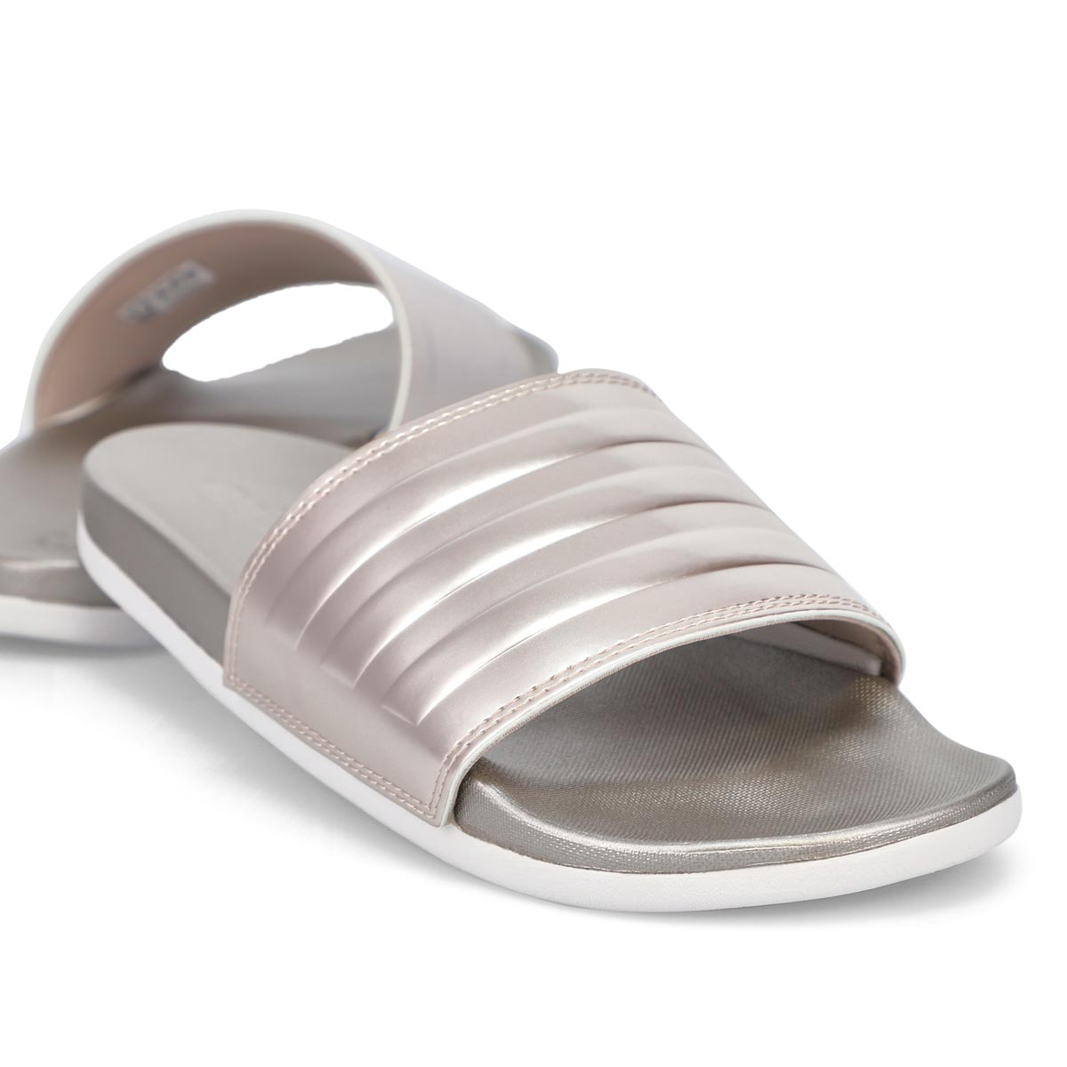Women's AdiletteCF+StripesW Slide - Metallic