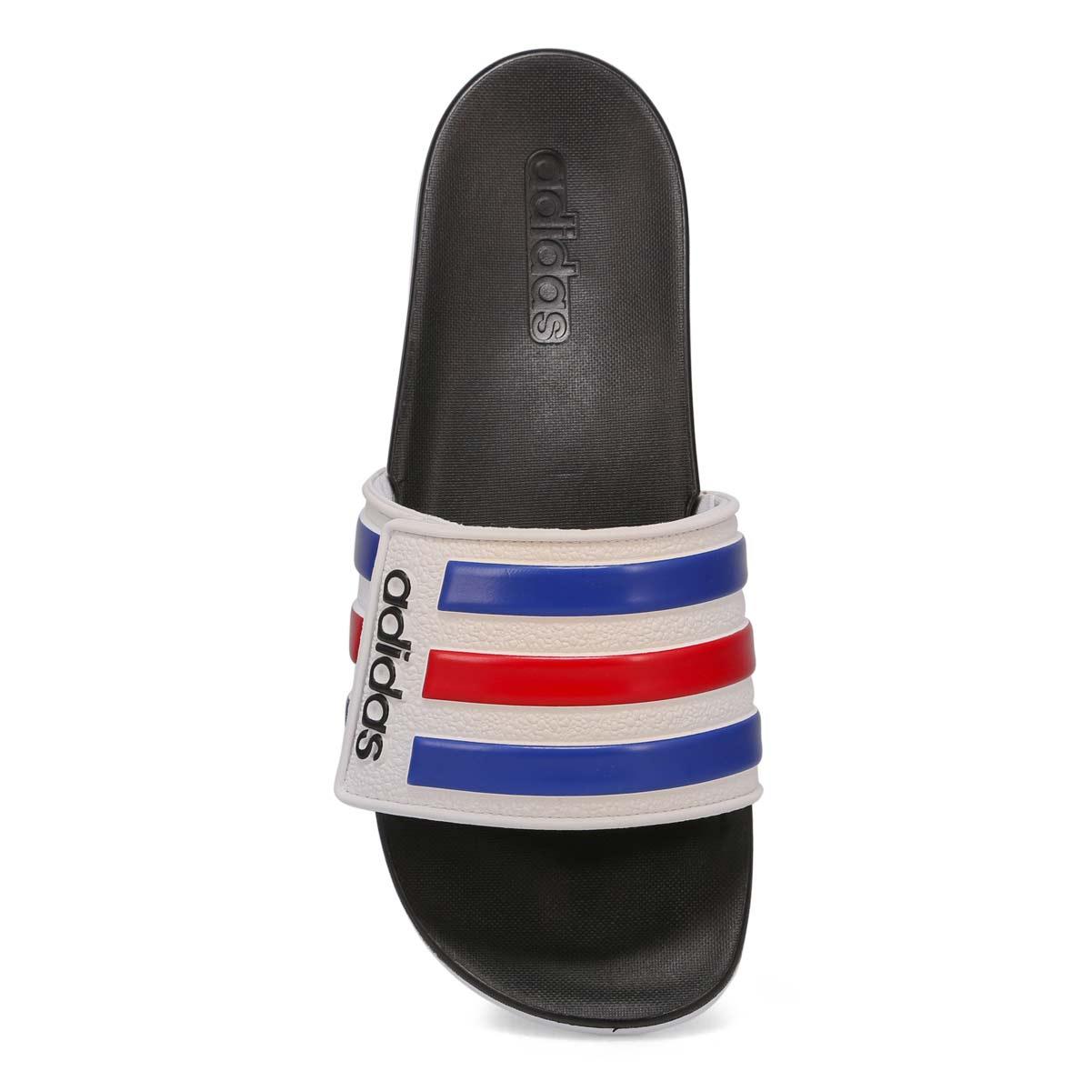 Men's Adilette Comfort ADJ Sandal - White/Blue/Red