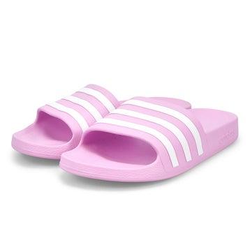 Women's Adilette Aqua Slide Sandal - Lilac/White