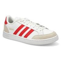 Men's GRAND COURT SE white/ scarlet sneakers