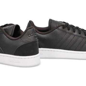 Men's Grand Court SE Sneaker - Black/Black/White