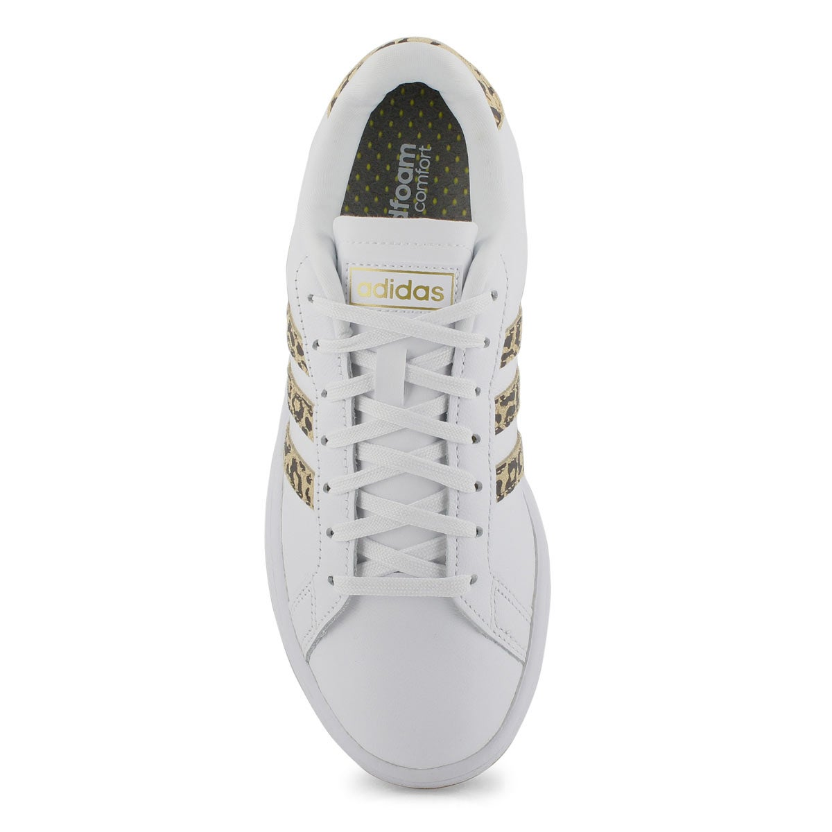 Women's Grand Court Sneaker - White/Leopard
