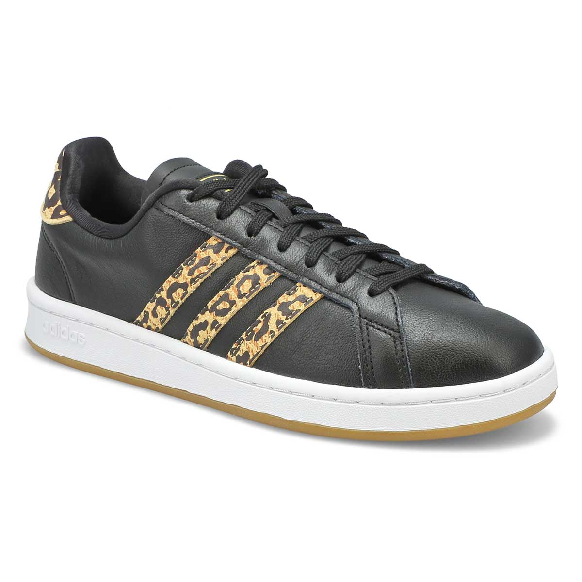 Women's GRAND COURT black/ leopard sneakers