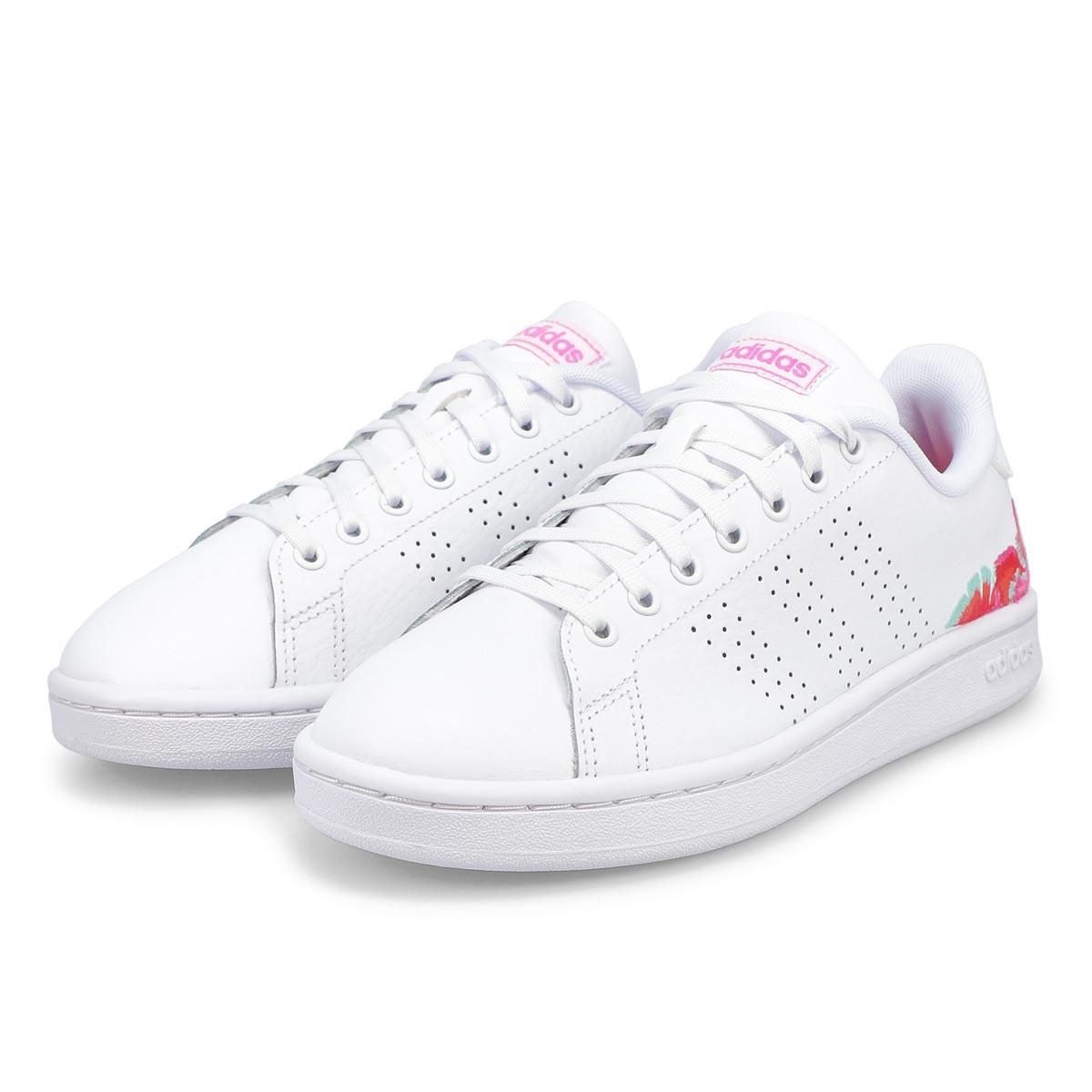 Women's Advantage Sneaker - White /Pink Flower