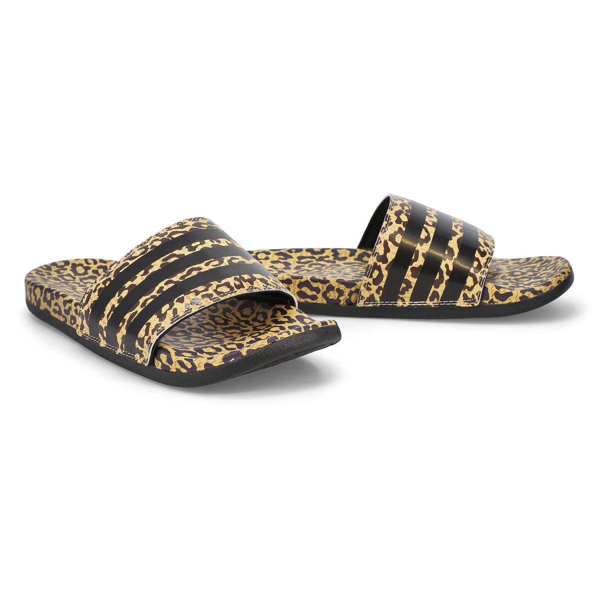 Women's Adilette CF+ Stripes W Slide - Black/Leo