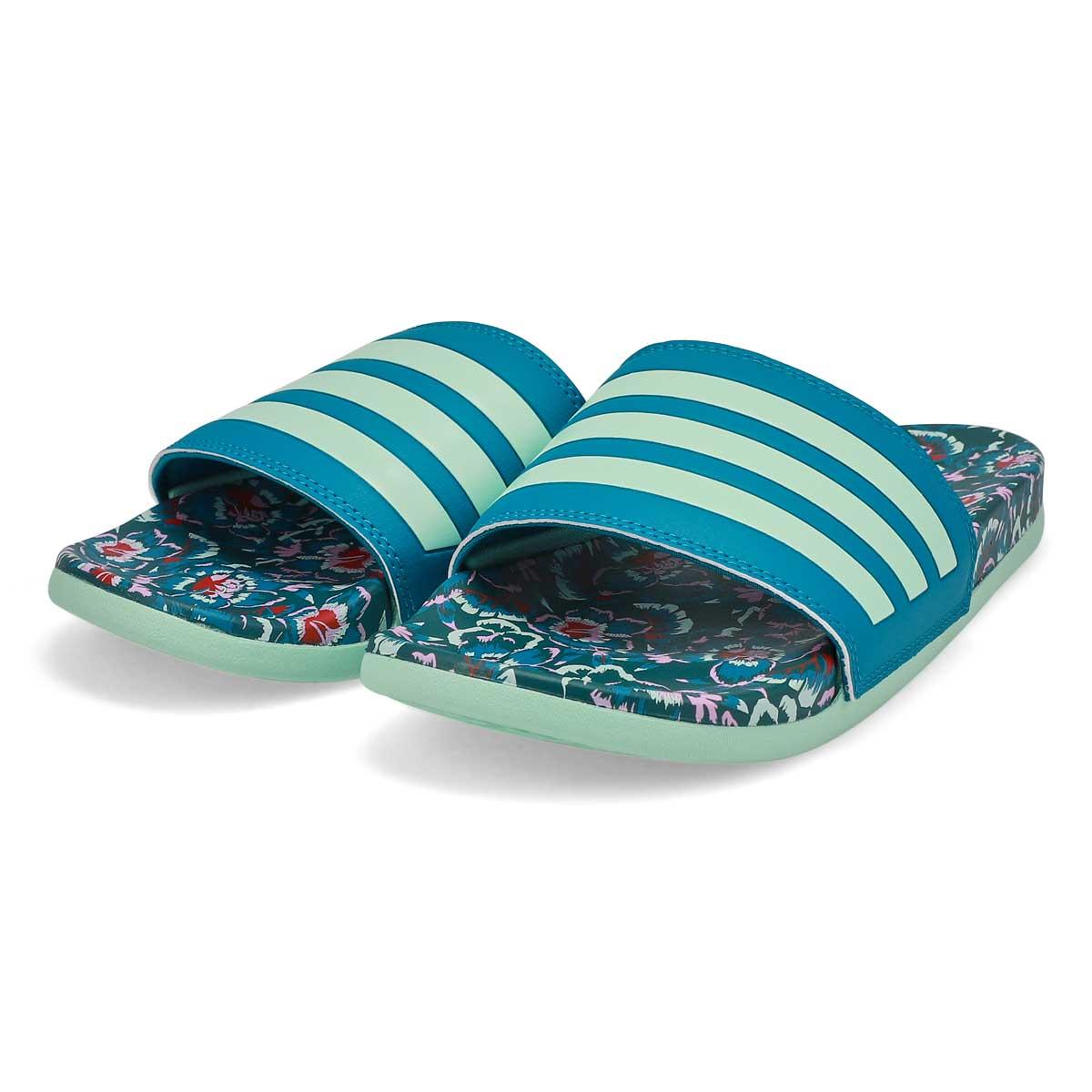 Women's Adilette CF+ Stripes W Slide - Teal/Mint