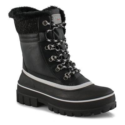 Lds Gleam blk waterproof winter boot