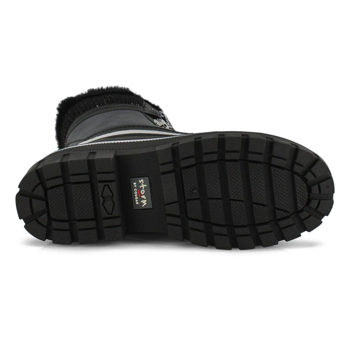 Women's GLEAM black waterproof winter boots
