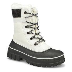 Lds Gleam wht waterproof winter boot