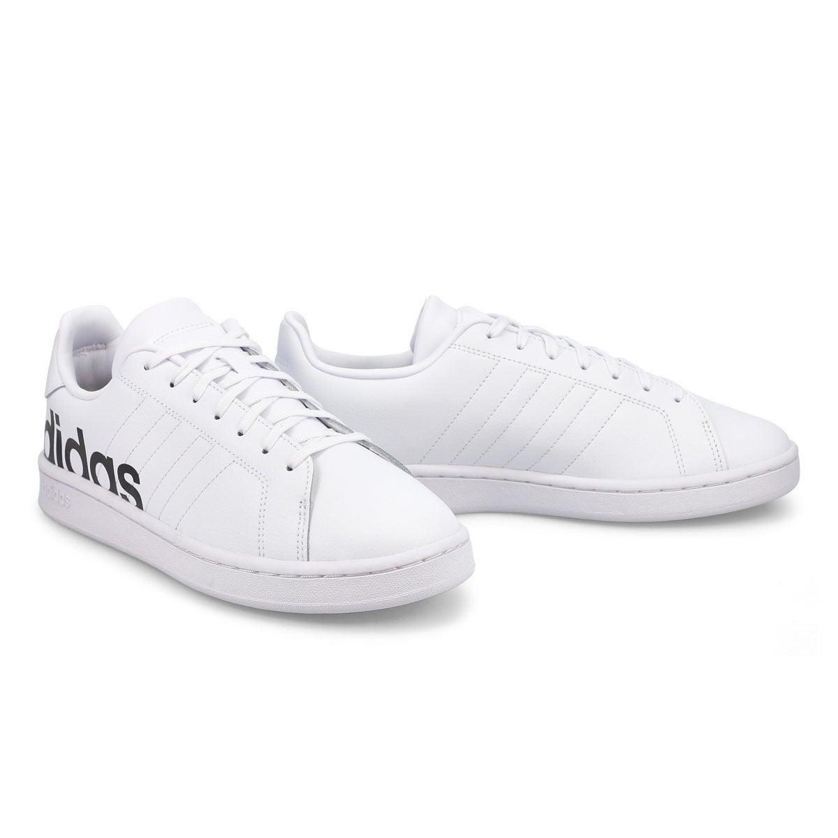 Men's Grand Court Sneakers - White/Black