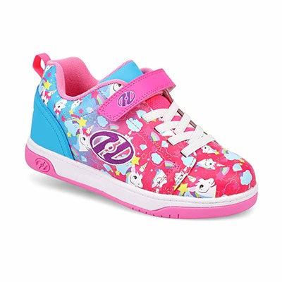 Girl's Dual Up X2 Skate Sneaker - Pnk/Cyn/Ppl