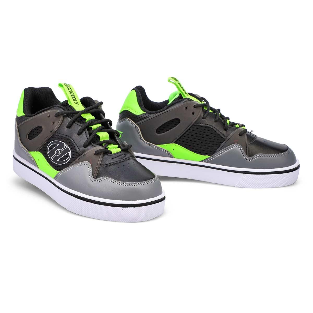 Boys' Ripper Sneakers -Black/Neon Green/Grey