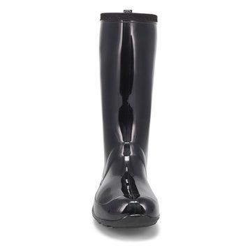 Women's HEIDI black mid waterproof rain boots