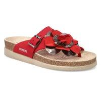 Women's Helen Flower Sandal - Red