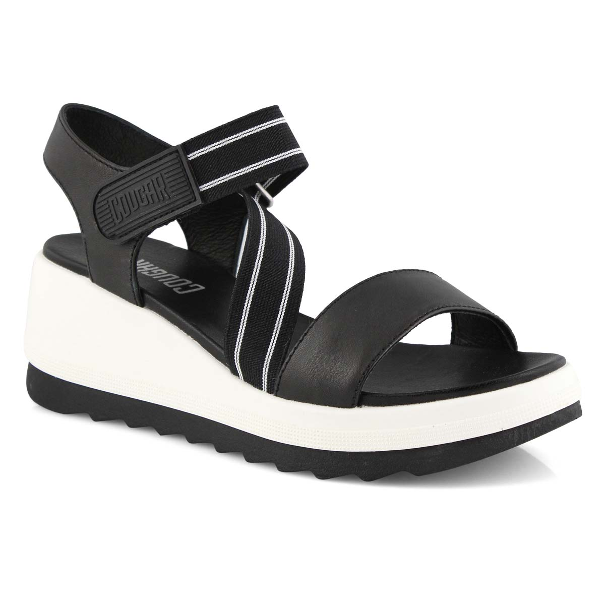 Women's HIBISCUS black wedge sandals