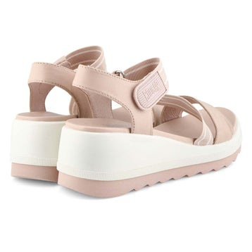 Women's HIBISCUS shell wedge sandals