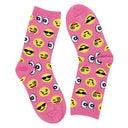 Hot SoxGirl's EMOJI pink printed socks