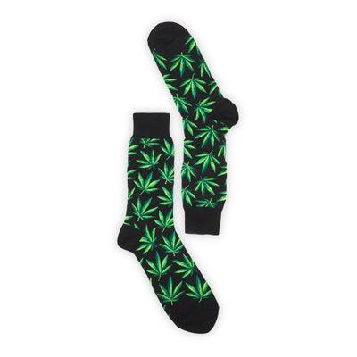 Hot SoxMen's MARIJUANA black printed socks