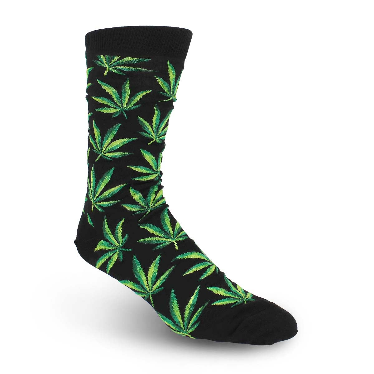 Men's MarijuanaSock - Black Printed