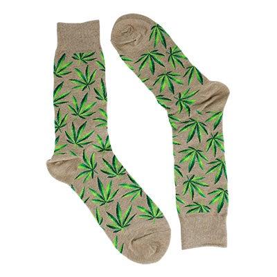 Hot SoxMen's MARIJUANA hemp printed socks