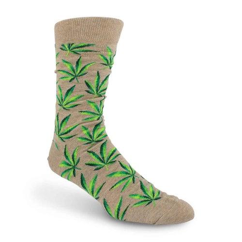Mns Marijuana hemp printed sock