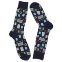 Hot Sox Men's ACCOUNTANT denim printed socks