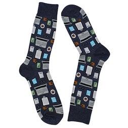 Mns Accountant denim printed sock
