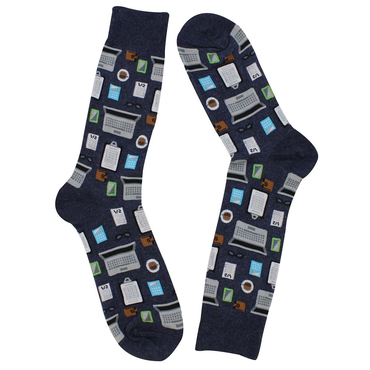 Mns Accountant denim printed sock