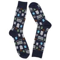 Men's Accountant Sock - Denim Printed