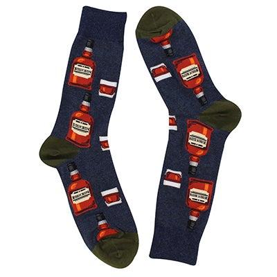 Hot SoxMen's BOURBON denim printed socks