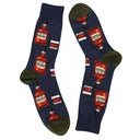 Hot Sox Men's BOURBON denim printed socks