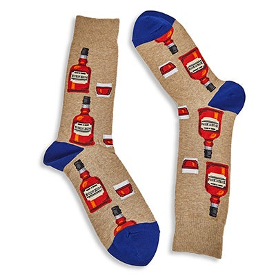 Mns Bourbon hemp printed sock
