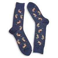 Men's SKATING REINDEER denim printed socks