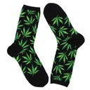 Hot Sox Women's MARIJUANA black printed socks
