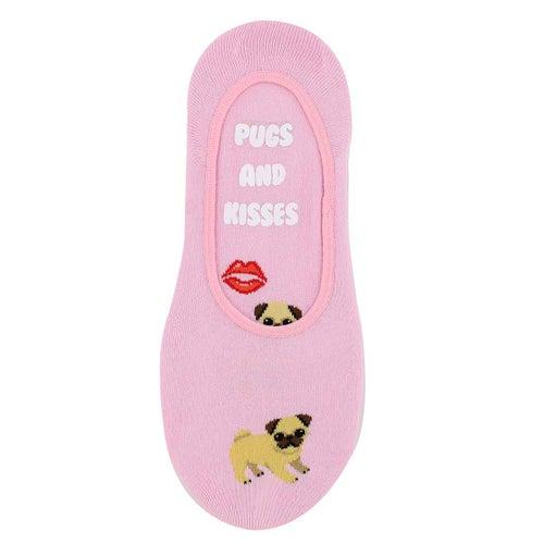 Socquette Pugs & Kisses, rose, femmes