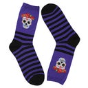 Hot Sox Women's SUGAR SKULL purple printed socks