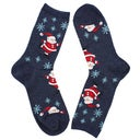 Hot Sox Women's SKATING SANTAS grey printed socks