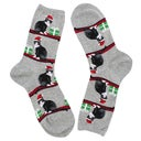 Hot Sox Chaussette Christmas Cats, gris, femme