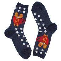 Women's Gingerbread Couple Sock - Denim
