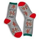 Hot Sox Women's LET'S GET BAKED grey printed socks