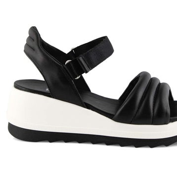 Women's HONEY black wedge sandals