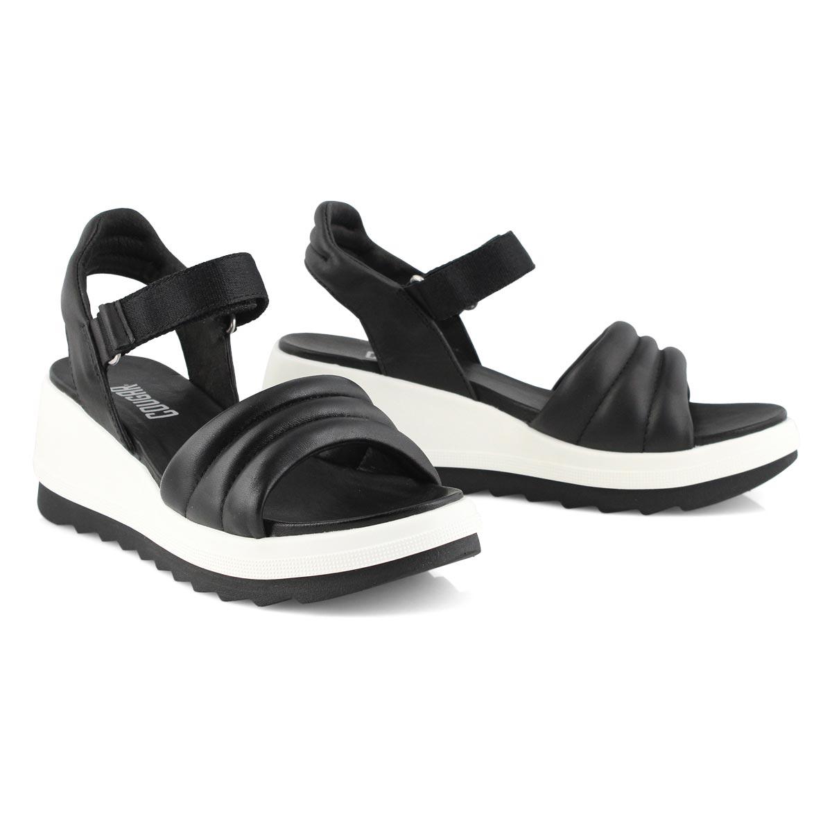 Women's HONEY black wedge sandals
