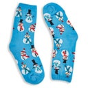 Hot Sox Kids' SNOWMEN light blue printed socks