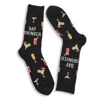 Men's Day Drinker Sock - Black Printed