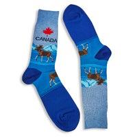 Men's Canada Sock - Blue Printed