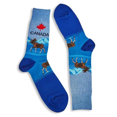 Chaussette Canada, bleu, hom.