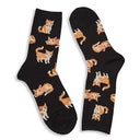 Hot Sox Women's FUZZY CAT black print socks