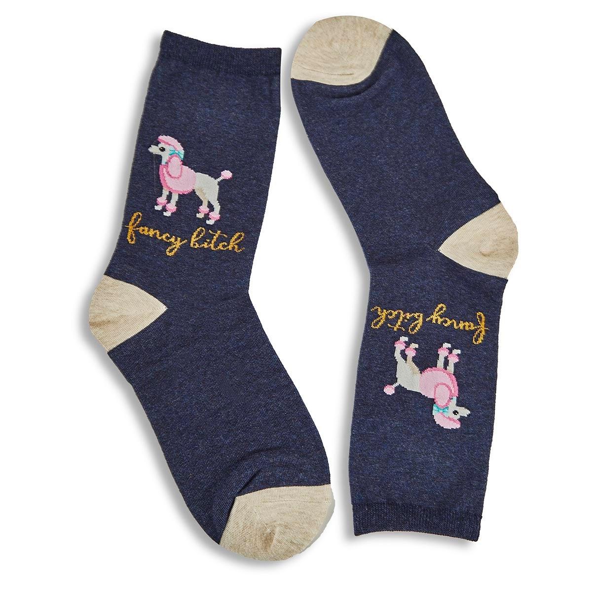 Women's Fancy Bitch Sock - Denim Printed